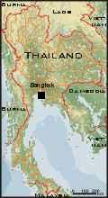 Small map of Thailand